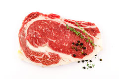 Slide rib eye beef. Preparation for cooking Stock Photos
