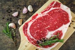 Slide rib eye beef. Preparation for cooking Royalty Free Stock Image