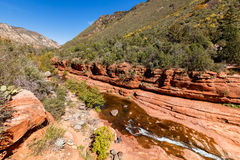 Slide Rock Arizona Stock Photos