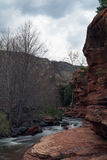 Slide Rock State Park. The river that calmly runs through Slide Rock State Park in Arizona royalty free stock images