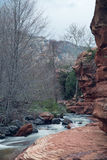 Slide Rock State Park. The river that calmly runs through Slide Rock State Park in Arizona royalty free stock photo
