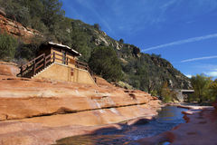 Slide Rock State Park in Sedona Stock Images