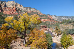 Slide Rock State Park Sedona Arizona in Fall Royalty Free Stock Image