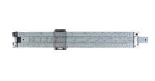 Slide rule. Isolated on white, with path Stock Photos