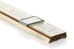 Slide rule. It is isolated on the white Stock Photography