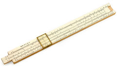 A slide rule Stock Photo