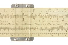 Slide rule Royalty Free Stock Images