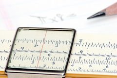 Slide Rule. Calculations Royalty Free Stock Photography