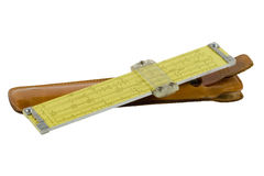 Slide rule alpha Stock Photo