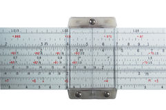 Slide rule, close-up Royalty Free Stock Photo