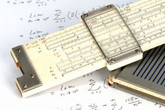 Slide rule close up Royalty Free Stock Image