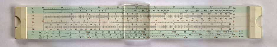Slide rule Stock Image