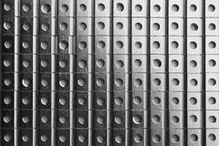 Slide screw nuts in a row, industrial background Royalty Free Stock Photo