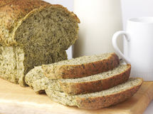 Slide spinach bread 1 Stock Image