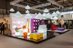 Slide stand at HOMI, home international show in Milan, Italy Royalty Free Stock Photos