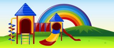 Slide station in the park. Illustration Stock Photography