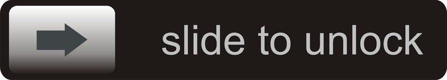 Slide to unlock. Very big size smartphone slide to unlock illustration Royalty Free Stock Photography