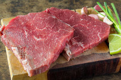 Slide top round beef Royalty Free Stock Image