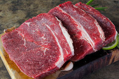 Slide top round beef Royalty Free Stock Photos
