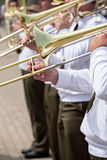 Slide trombone Stock Photo