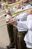 Slide trombone Stock Photo