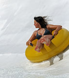 Slide on tube. Fany game in aquapark - portugal royalty free stock image