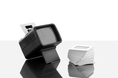 Slide Viewer - Illuminated hand held. In black and white Royalty Free Stock Photography