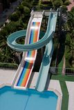Slide in water park Royalty Free Stock Images