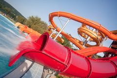 Slide in water park Royalty Free Stock Photo