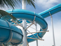 Slide in water park Stock Photos