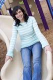 Slide Woman Stock Photo