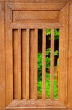 Slide Wooden Window Royalty Free Stock Image