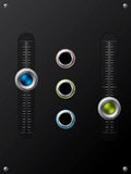 Slideable volume knobs with holes Stock Photos