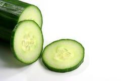 Slided cucumber Stock Photo