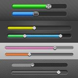 Slider Bars Stock Photography