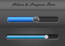 Slider Bars Stock Photo