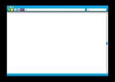 Slider do azul do web browser do Internet Fotos de Stock