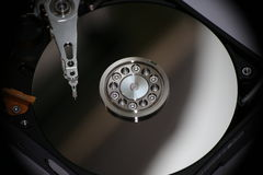 Slider hard disk. Slider in hard disk 1TB. Inside hard disk includes parts such as the slider, the platters Royalty Free Stock Photos