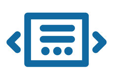 Slider icon. Blue laconic and simple. Part of the site interface. Vector flat Royalty Free Stock Photography