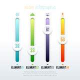 Slider Infographic Royalty Free Stock Photos