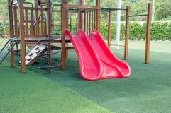 Slider (Kids playground )at the park Stock Images