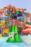 Slider player of amusement park Royalty Free Stock Images