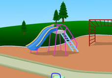 Slider Playground. Illustration of Slider playground done by  software Royalty Free Stock Photos