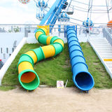 Slider tube. In  the playground Royalty Free Stock Photography