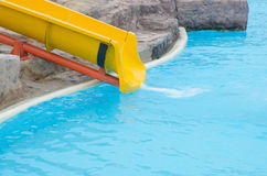 Slider in a water park. Royalty Free Stock Photography