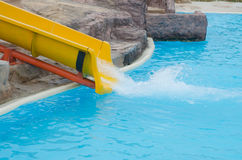 Slider in a water park. Royalty Free Stock Photos