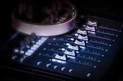 Slideres do estúdio do som da música da gravação Foto de Stock Royalty Free