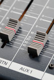 Sliders of an Audio Mixer Stock Images