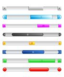 Sliders and scroll buttons Royalty Free Stock Images