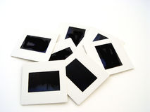 Slides. Assortment of slides on white background Stock Images
